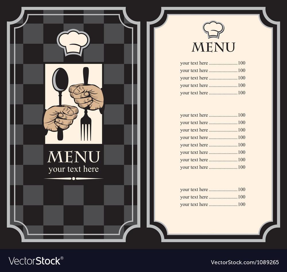 Black menus vector