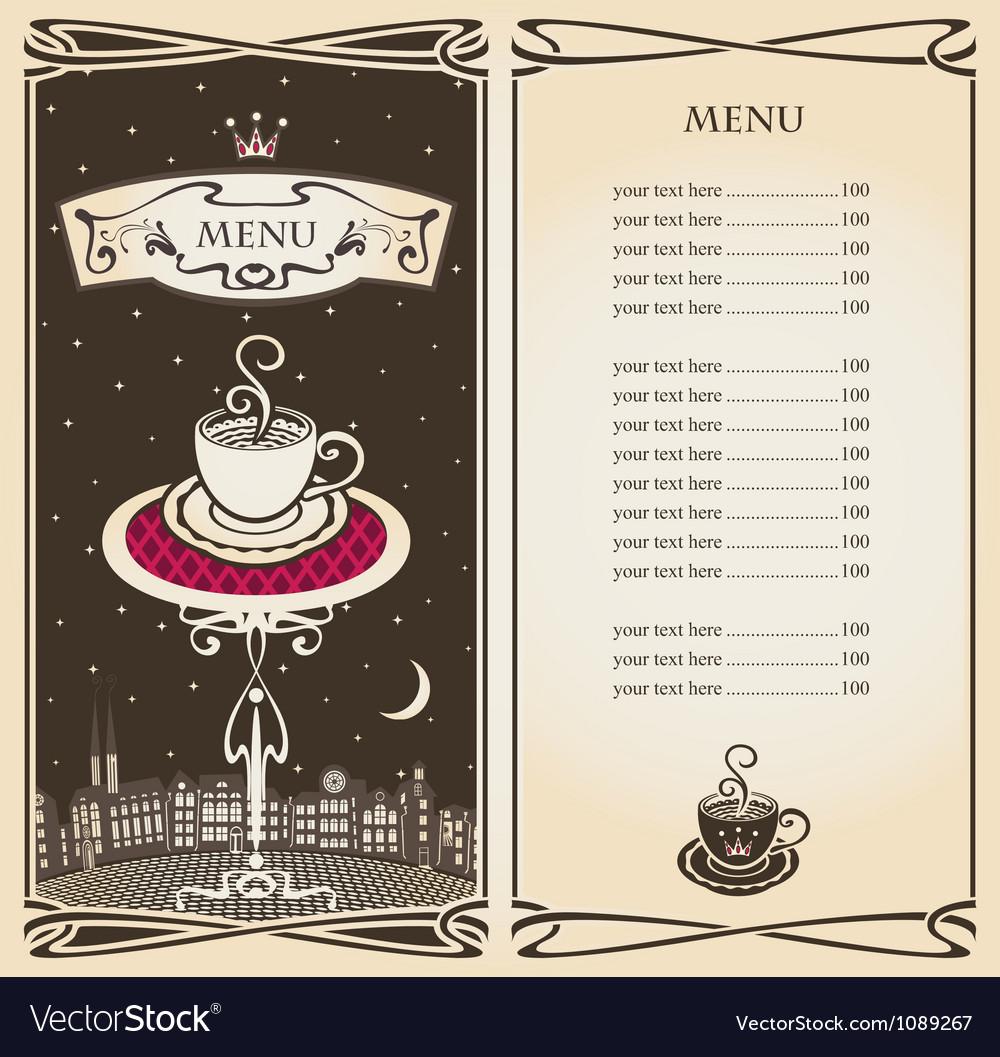 Royal menu vector
