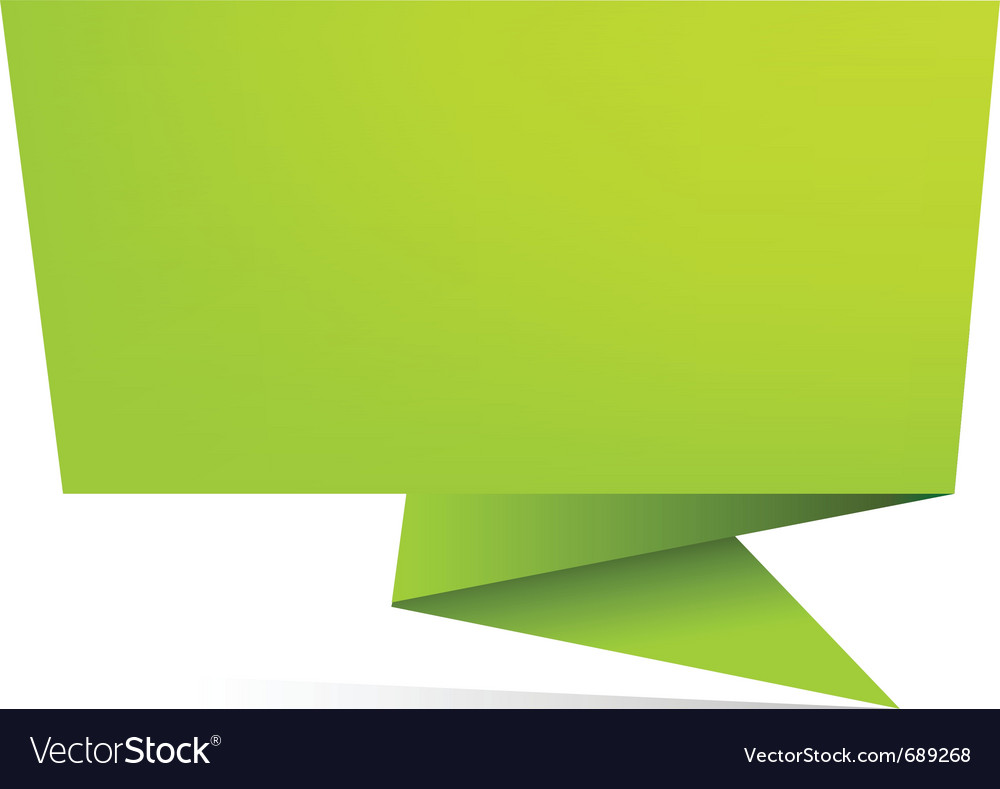 Origami paper banner vector