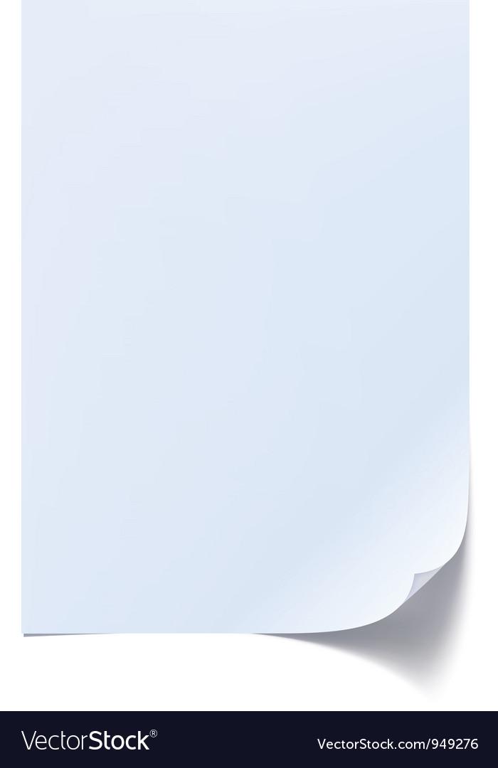 Blank sheet of paper vector