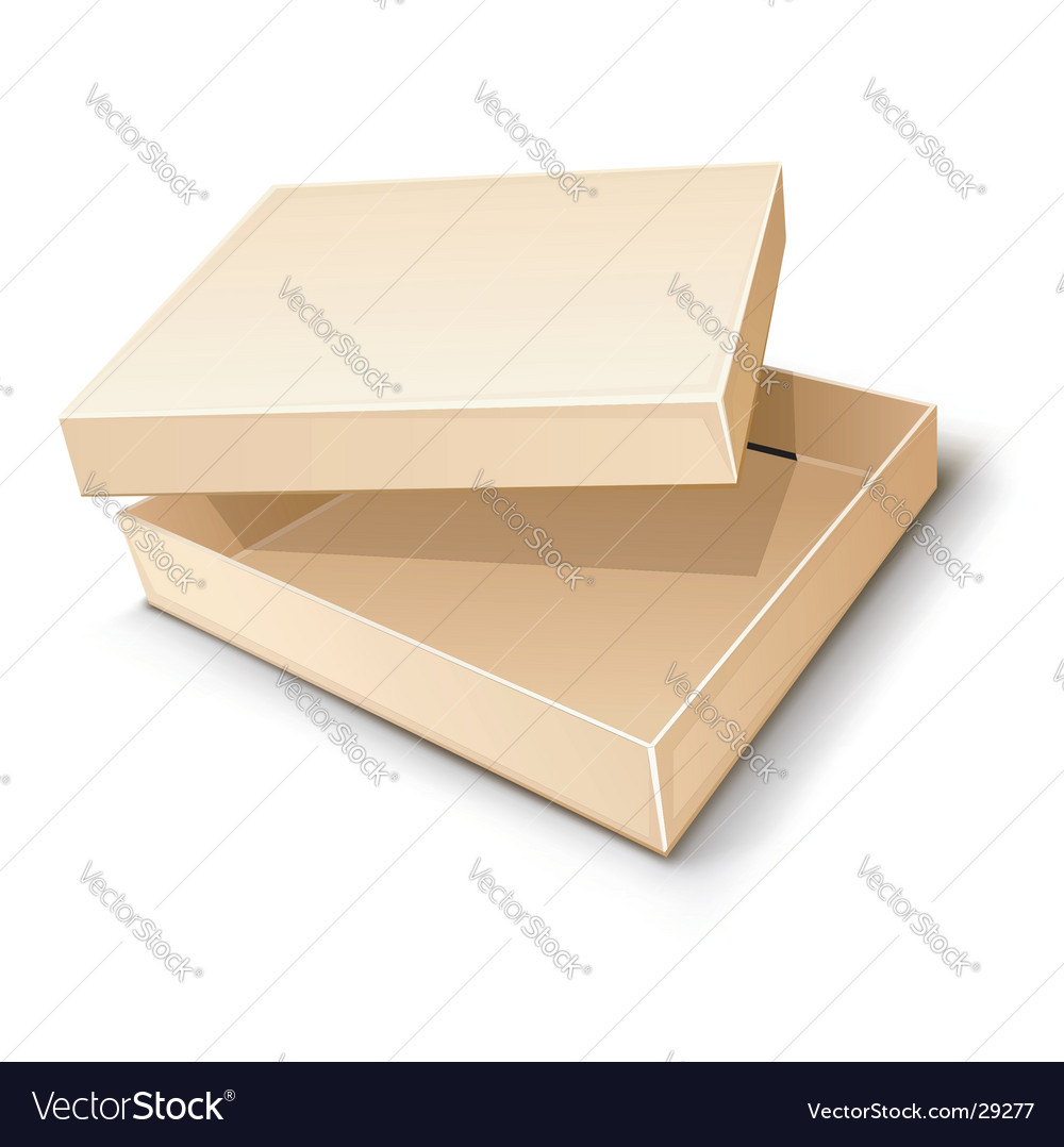 Paper box illustration vector