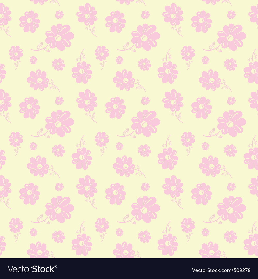 Colorful flowers seamless background pastel vector