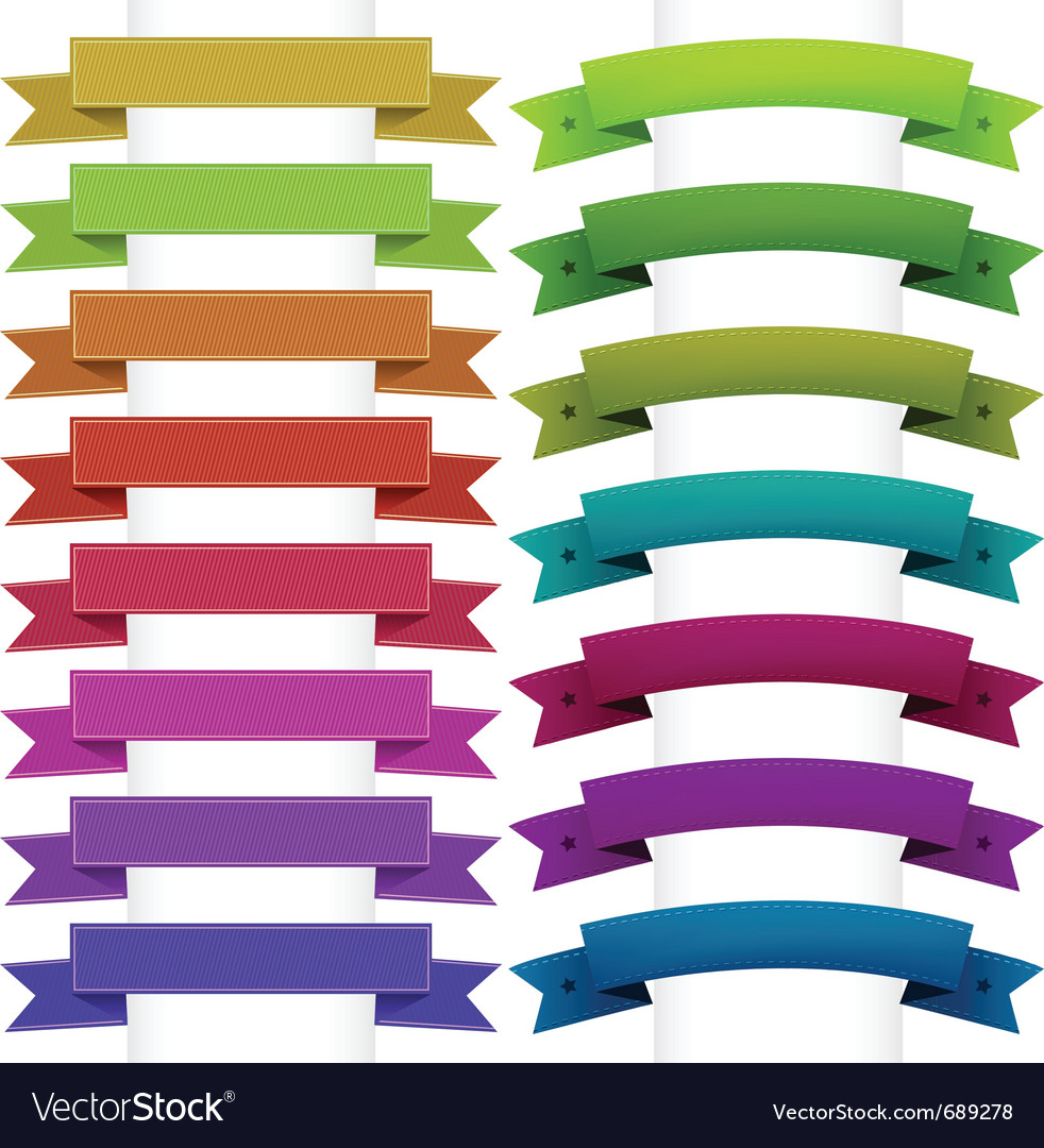 Ribbons collection vector