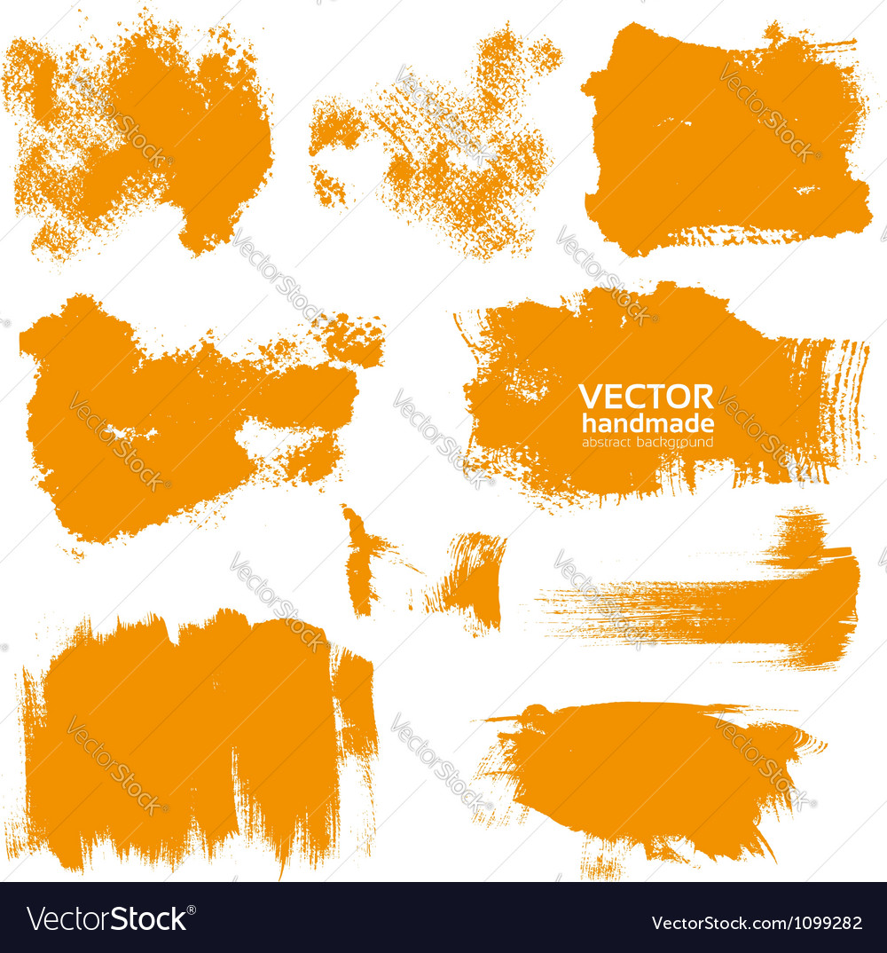 Abstract orange set backgrounds vector