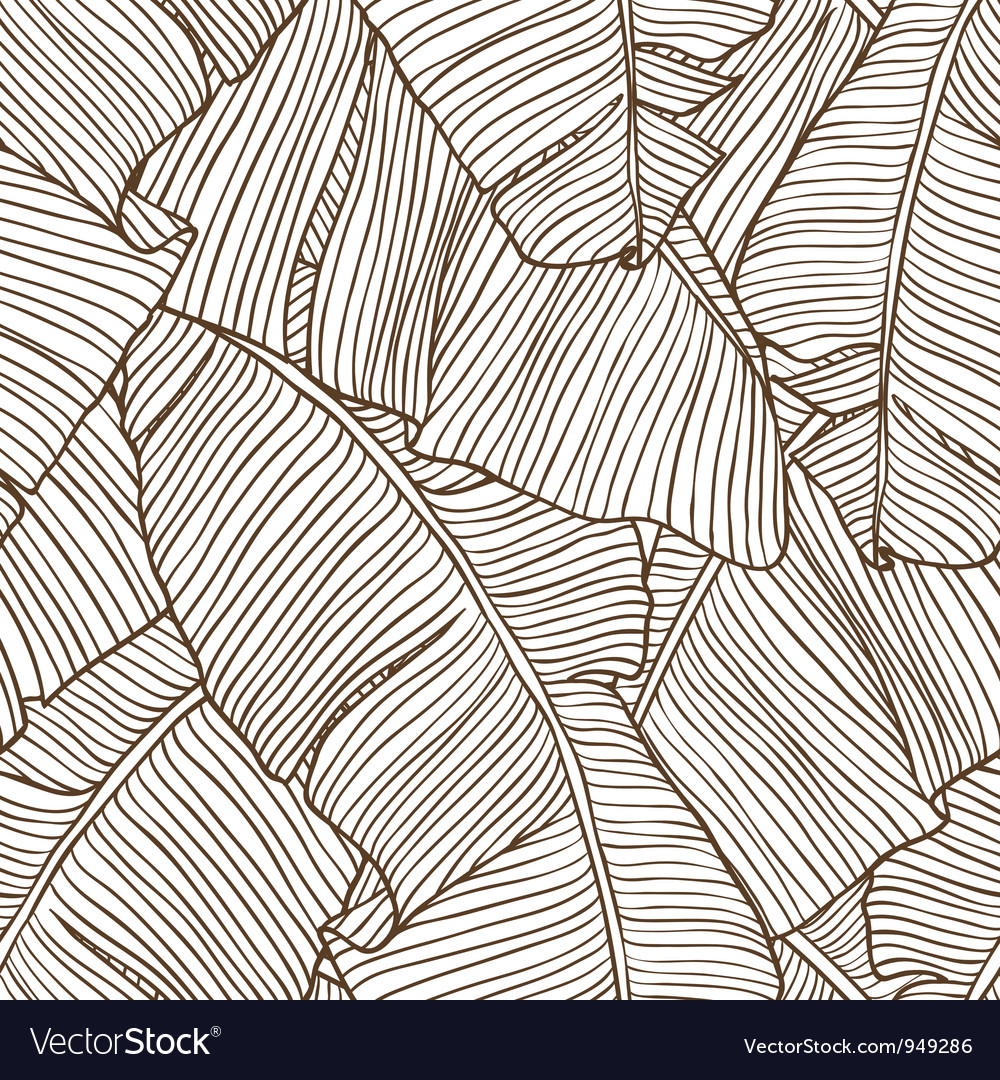 Palm leaves pattern vector