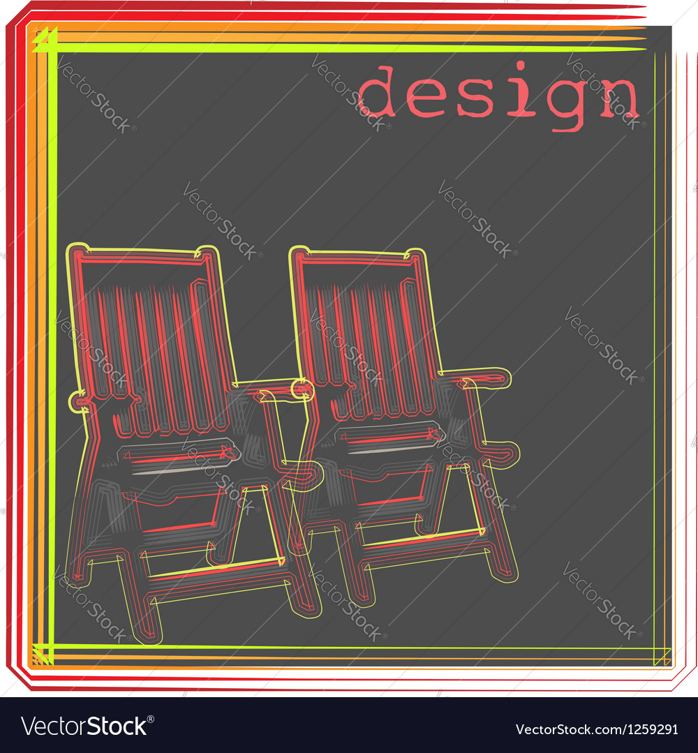 Armchair design vector