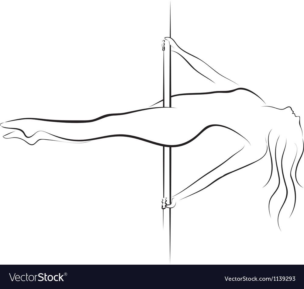 Pole dancer vector