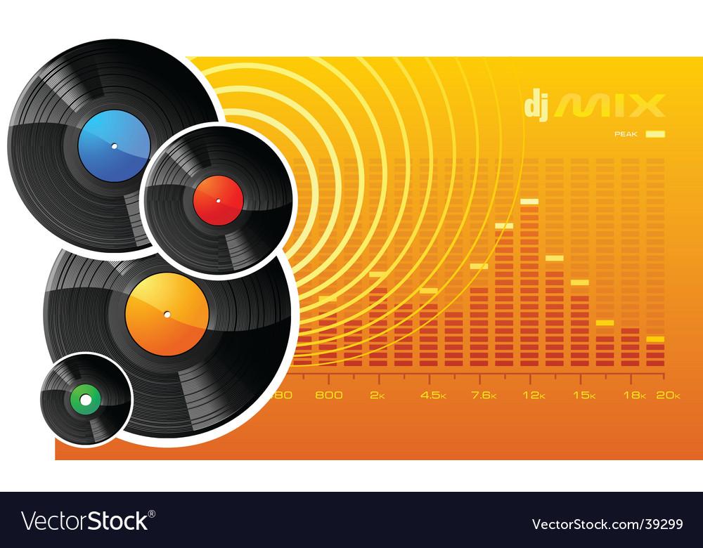Vinyl disks vector
