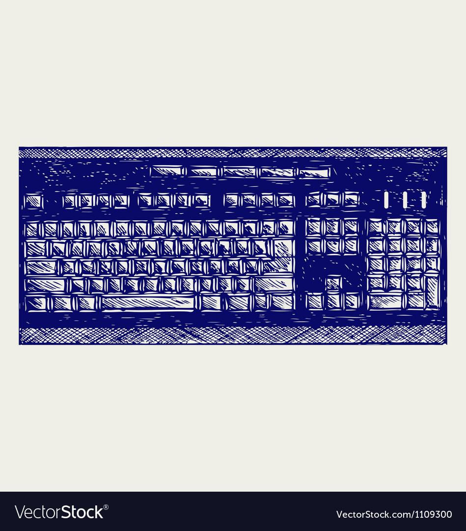 Modern computer keyboard vector