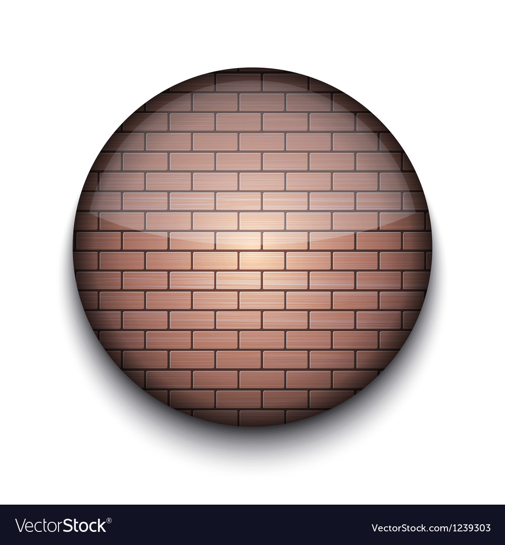 Brick pattern app icon vector
