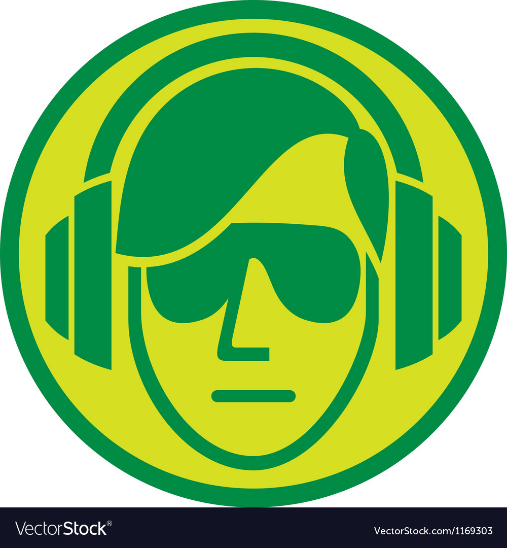 Dj music sign vector