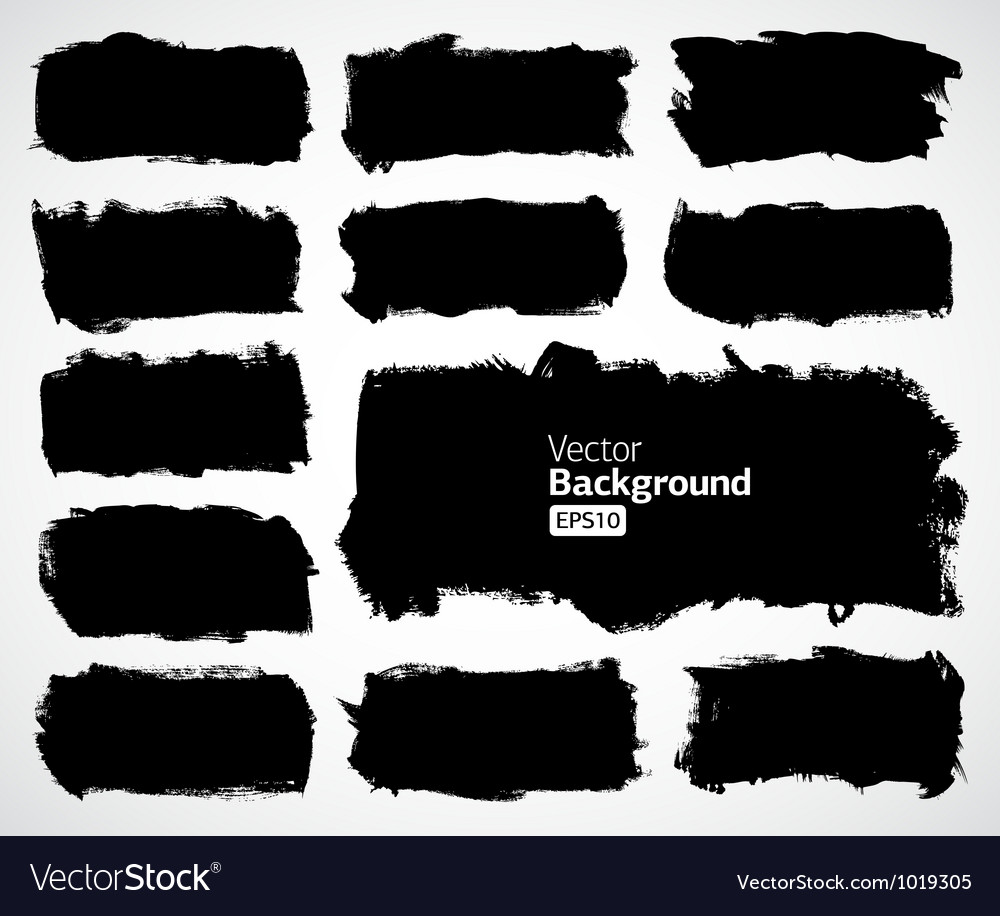 Black banners set vector