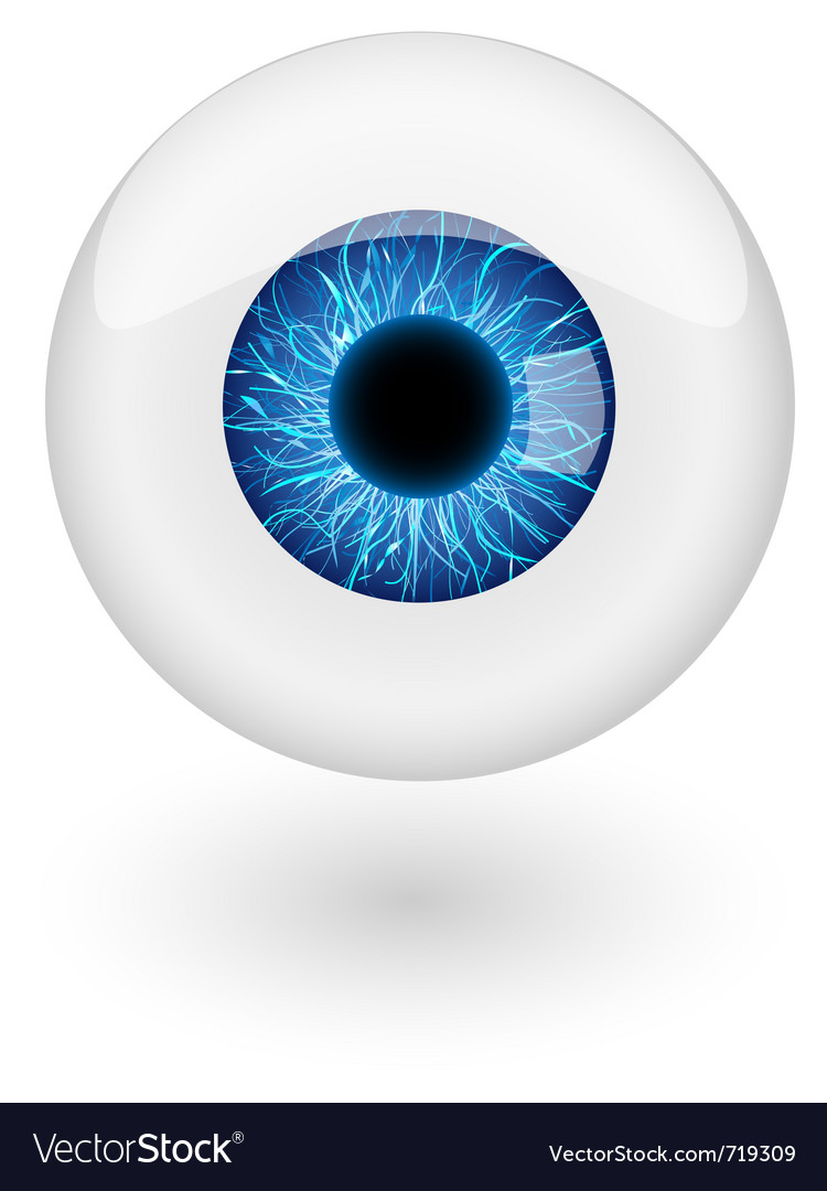 Blue eyebal  vector