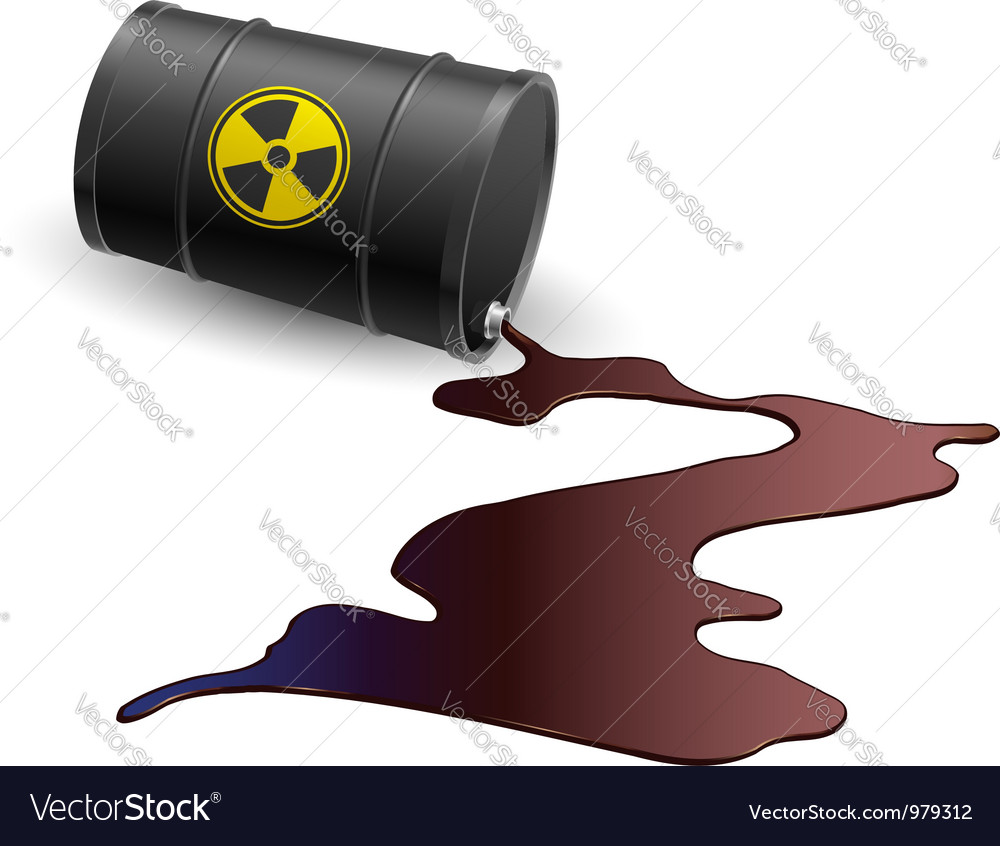Barrel with toxic liquid vector