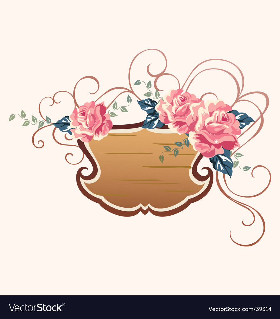 Rose outdoor sign vector