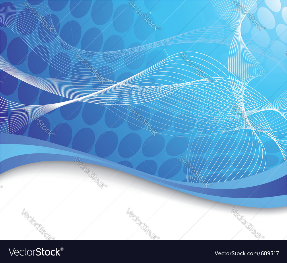 Blue high-tech background with waves vector