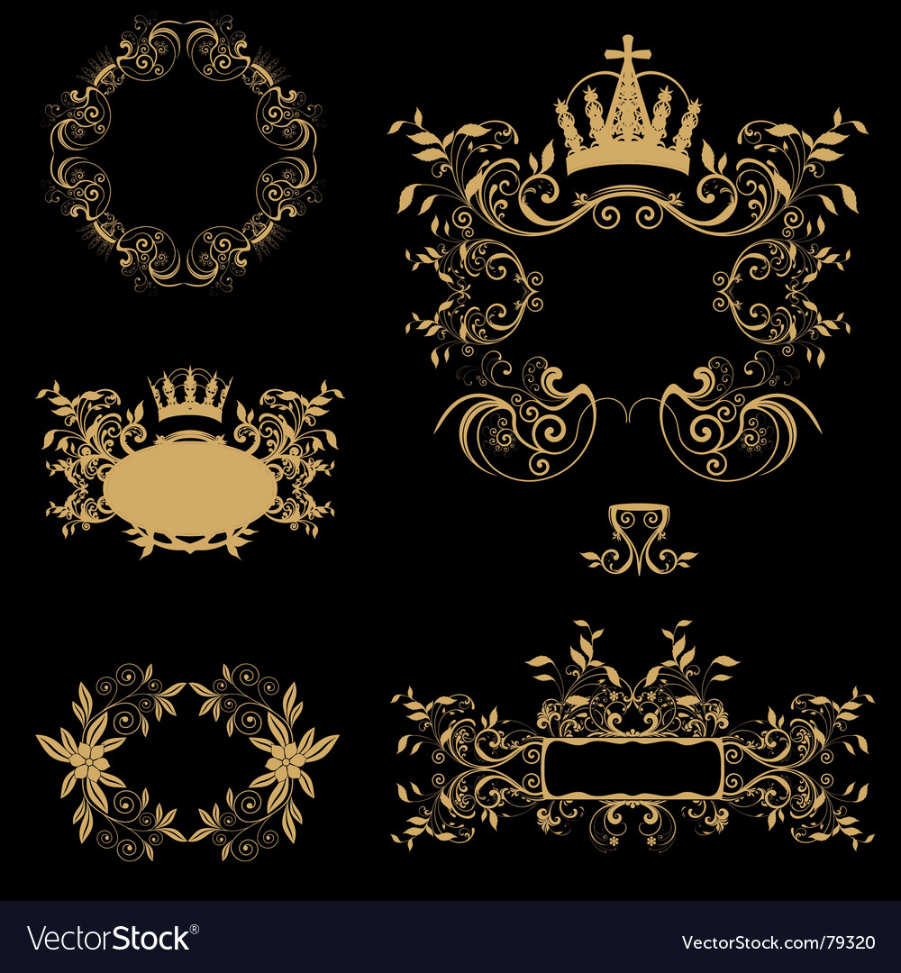 Free golden frames vector
