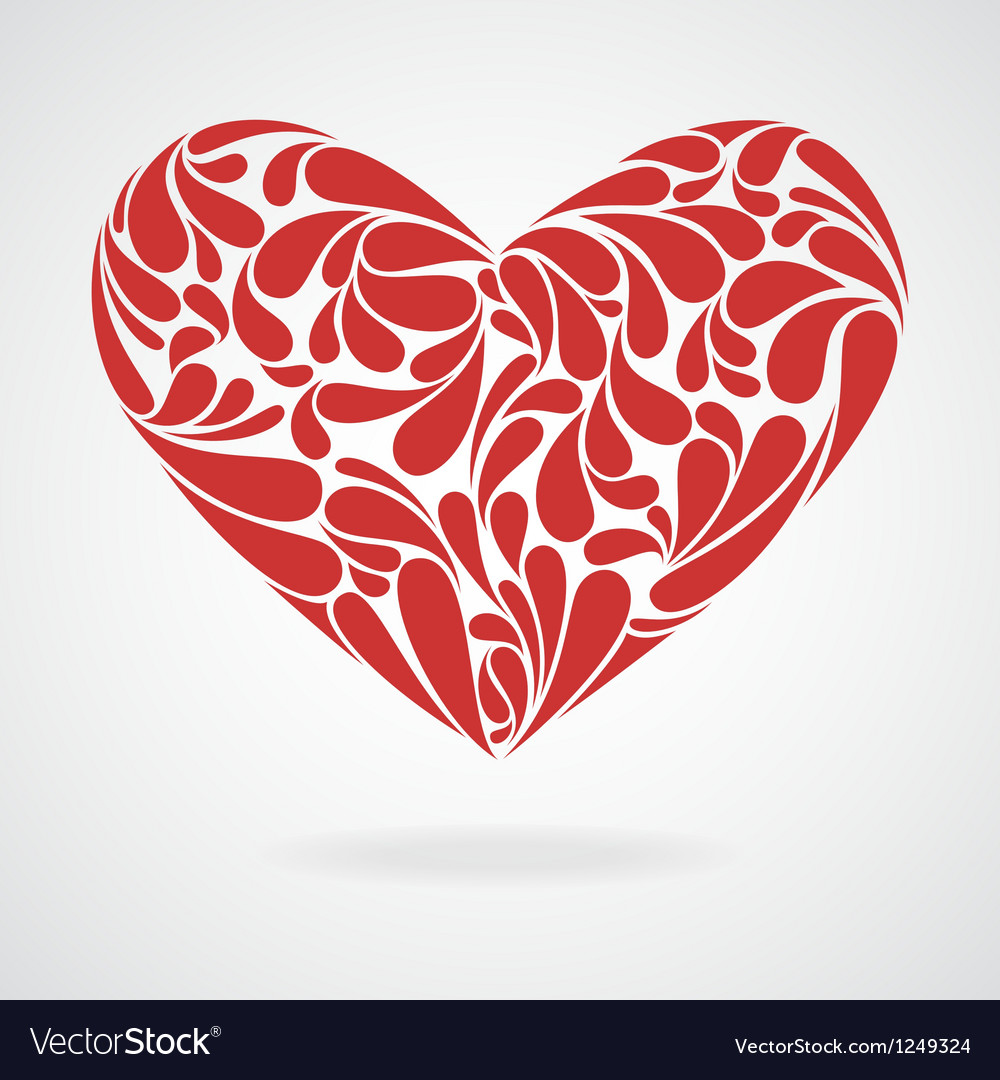 Heart of curls vector