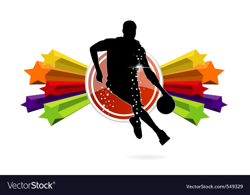 Basketball team sign isolated vector