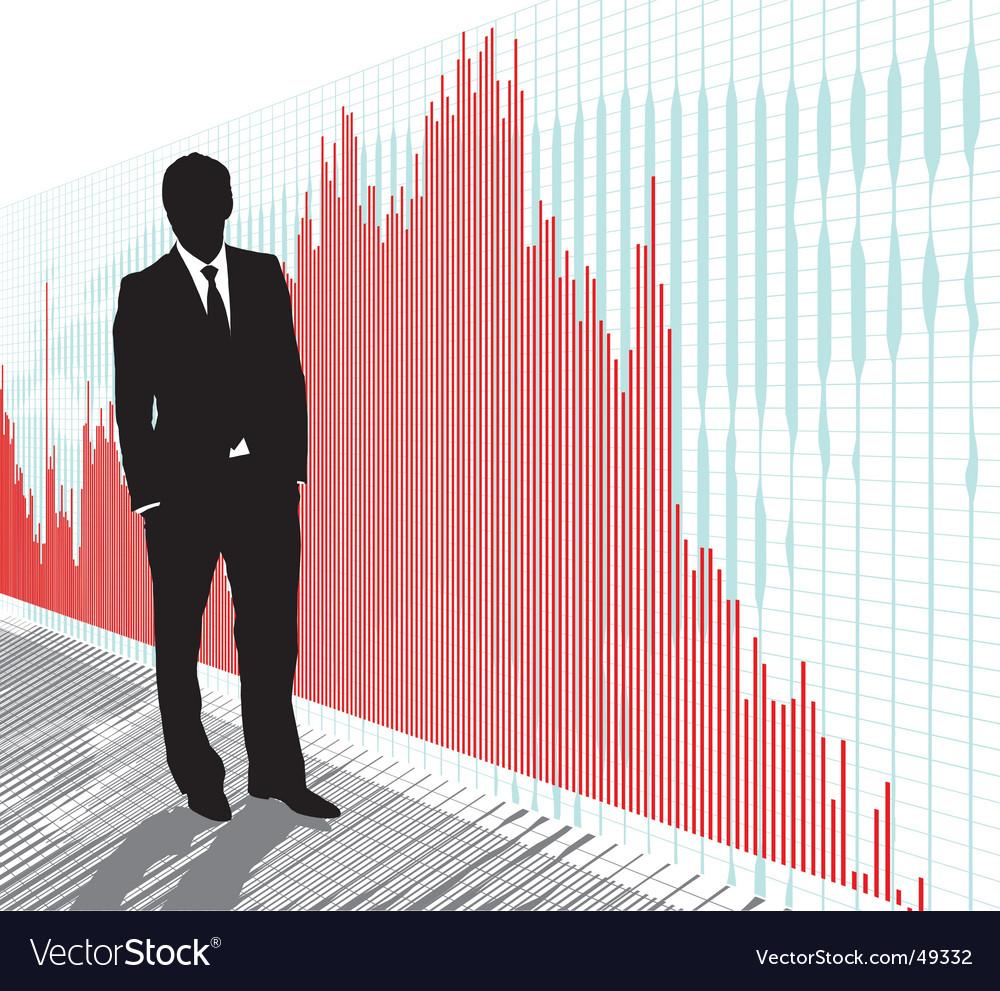 Stock trader vector