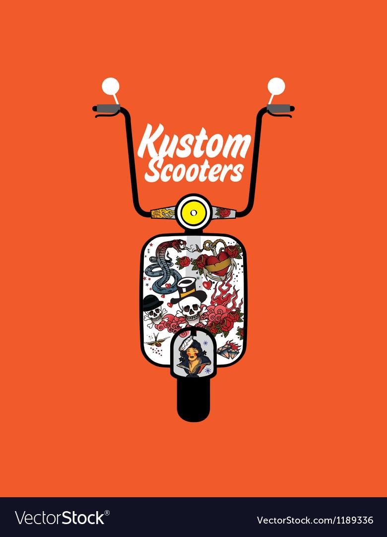 Custom scooter vector