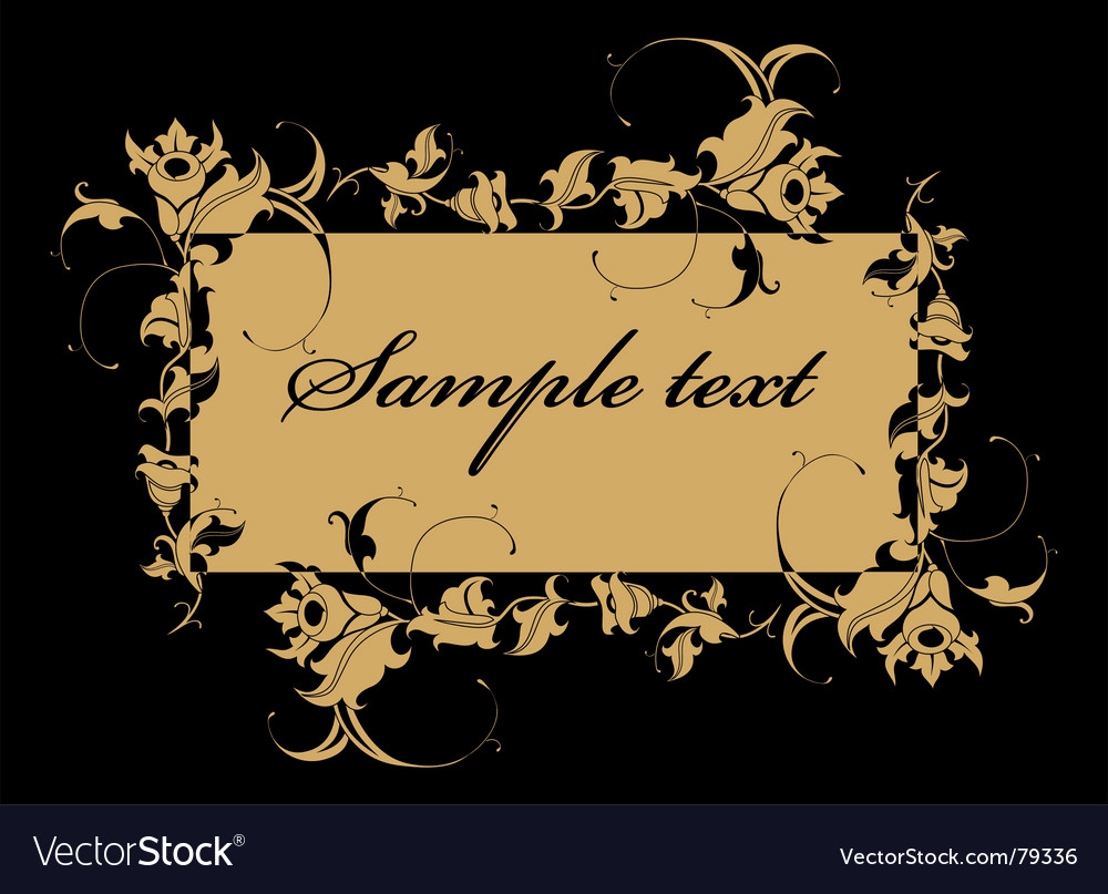 Free floral label vector