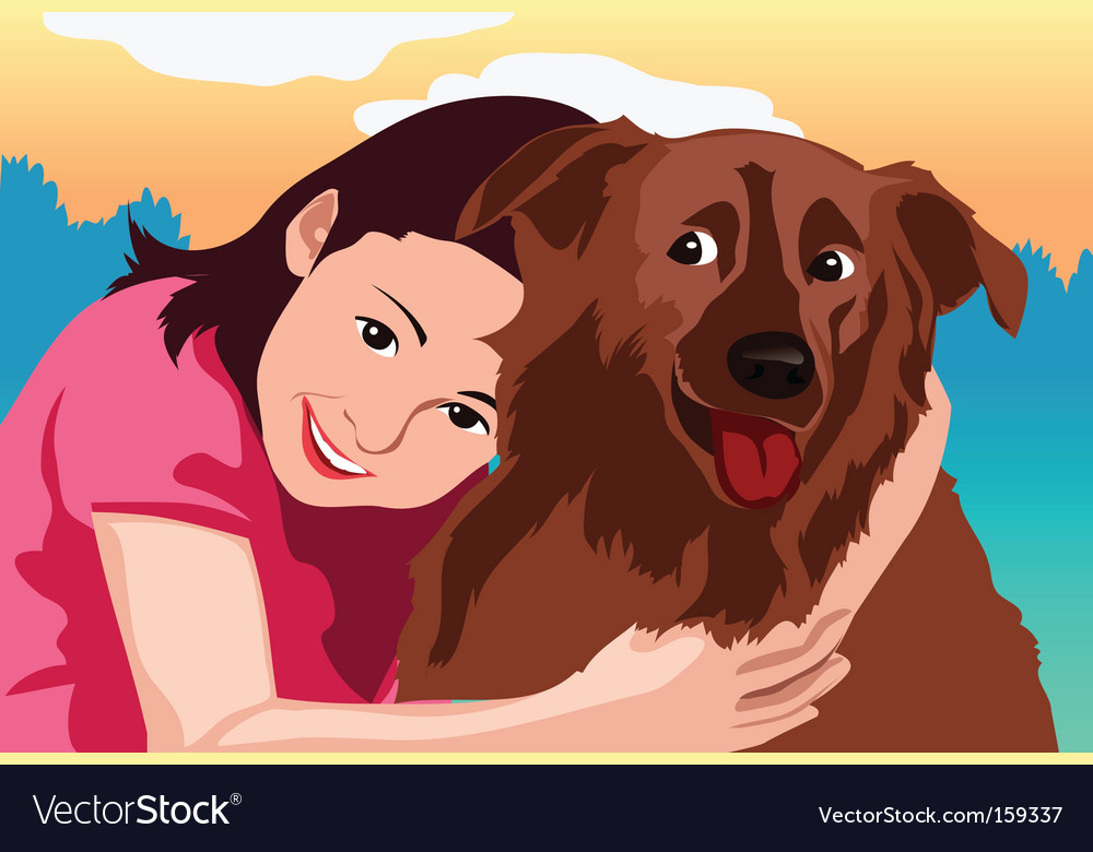 Love dog vector