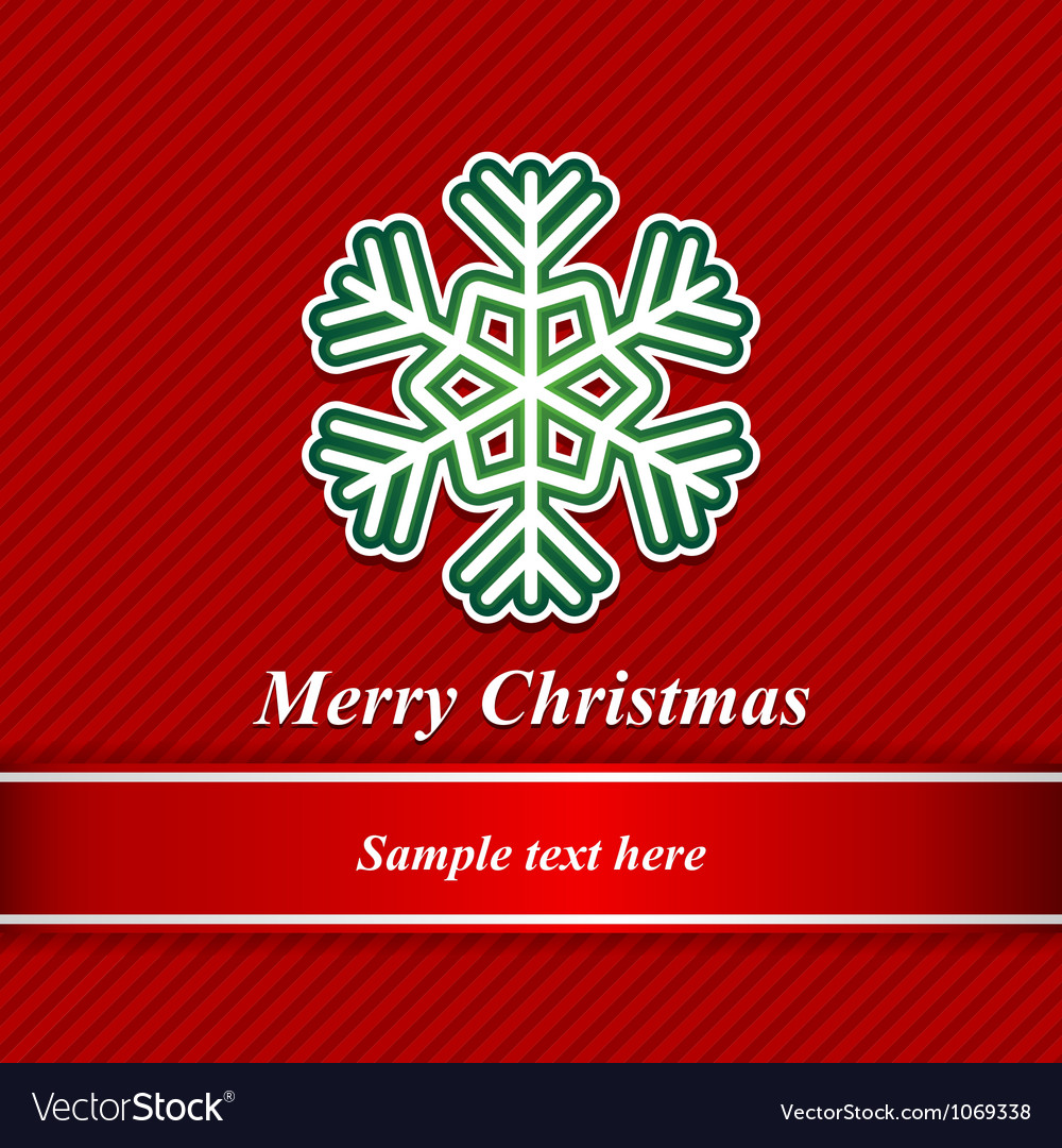 Christmas background and snowflakes vector