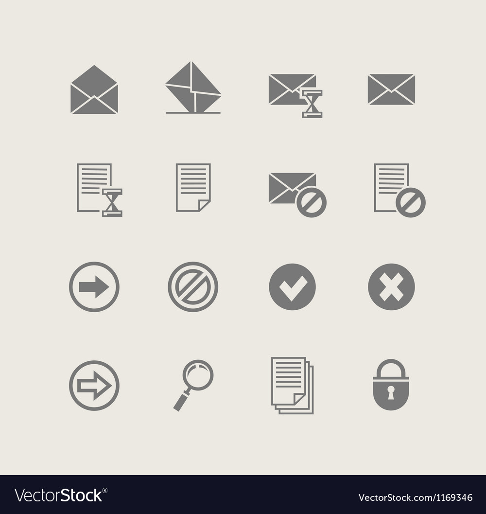 Post set of simple icons vector
