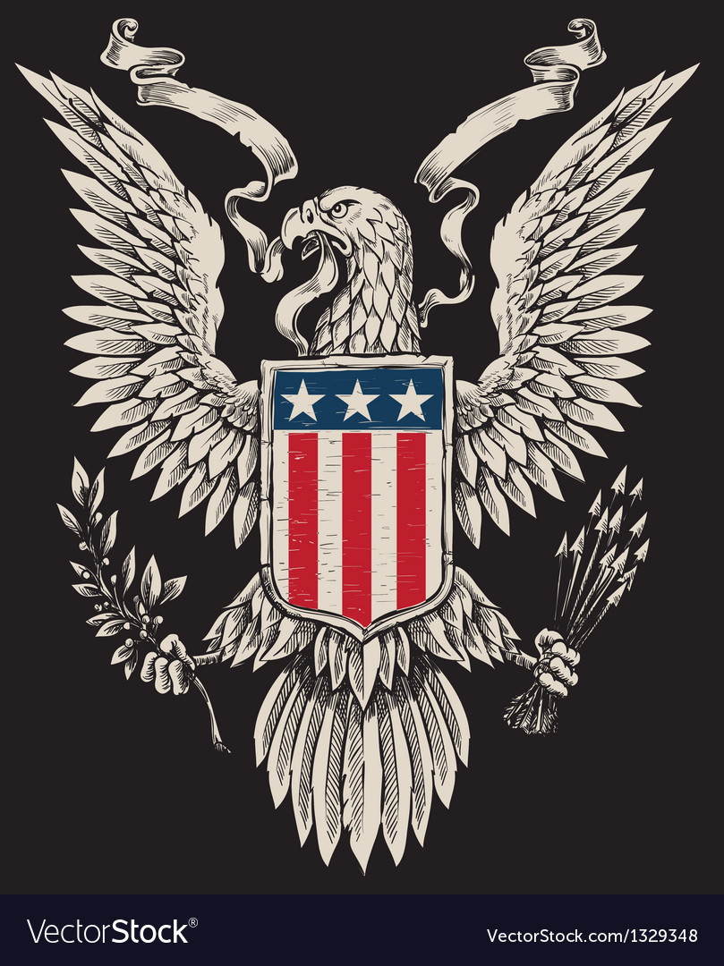 American eagle linework vector