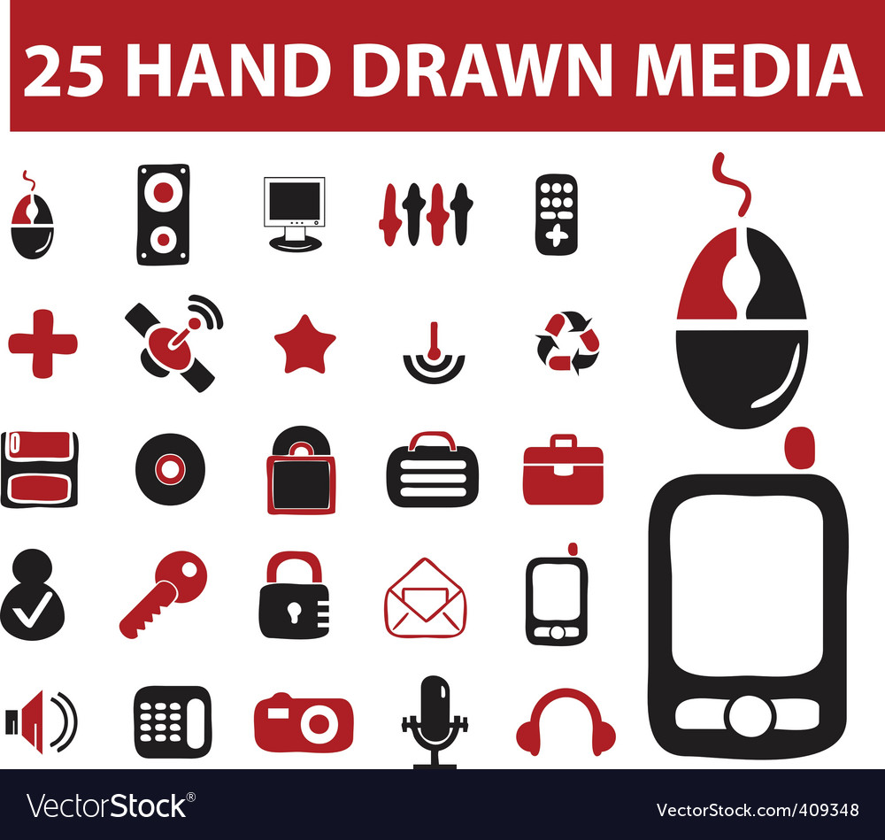 Hand drawn signs vector