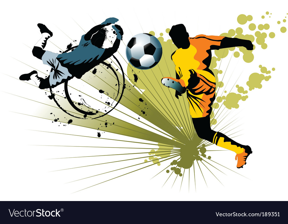 Goalkeeper and striker vector