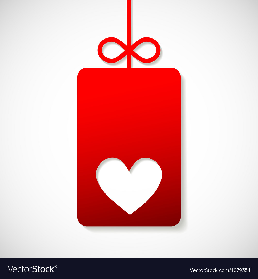 Paper banner with heart for your business vector