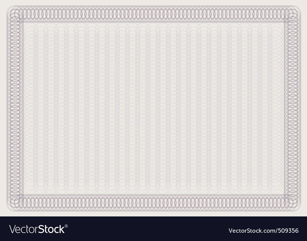Blank certificate template vector