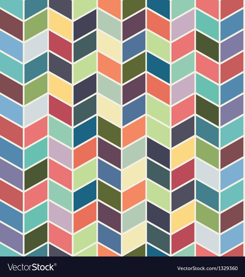 Seamless geometric chevron color textile pattern vector