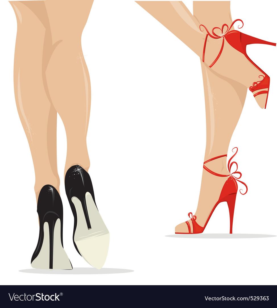 Sexy legs vector