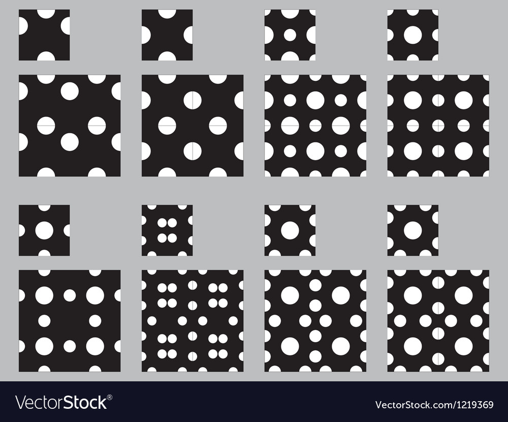 Polka dot patterns vector