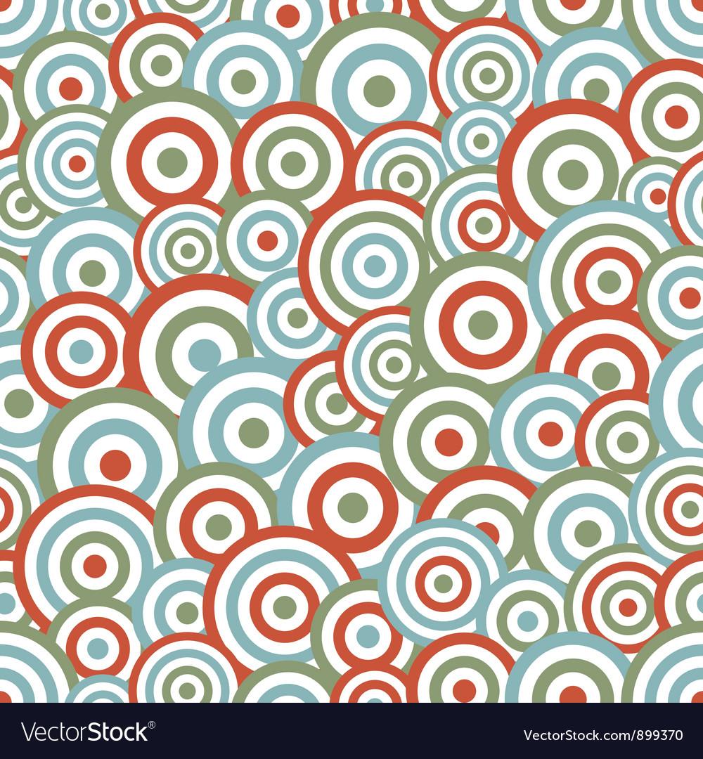 Abstract circle seamless vector