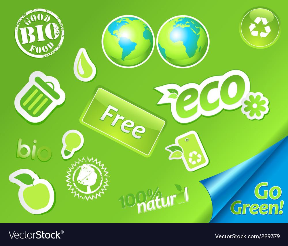 Green symbols vector