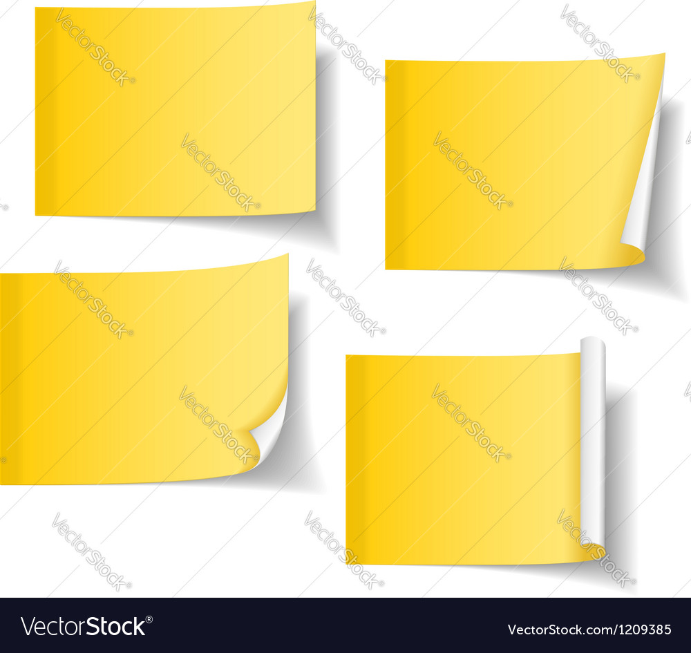 Yellow sticky notes vector