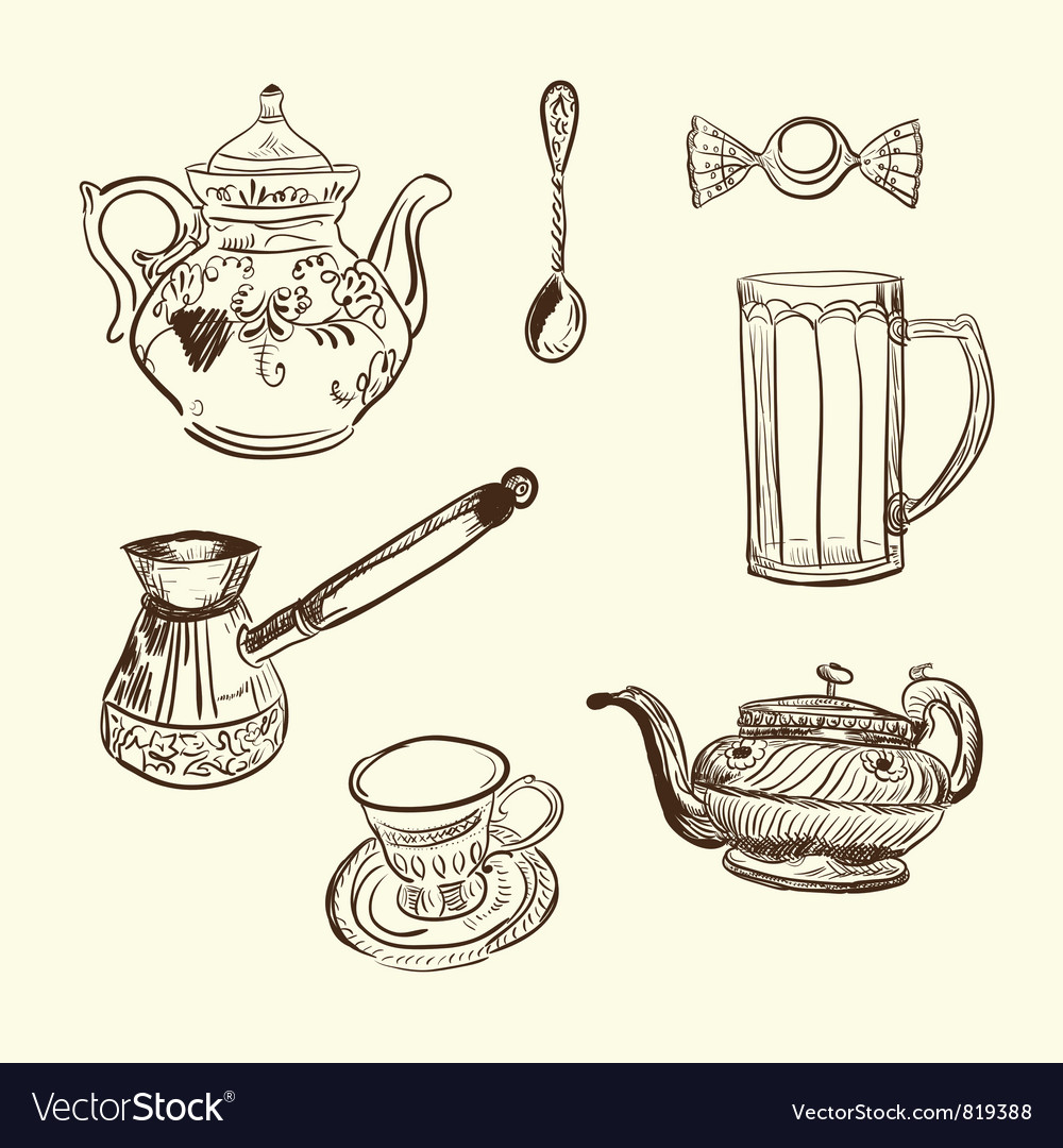 Kitchen devices coffee vector