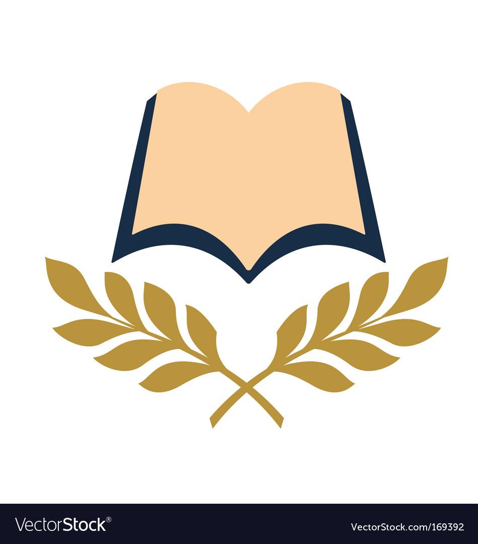 Open book symbol vector