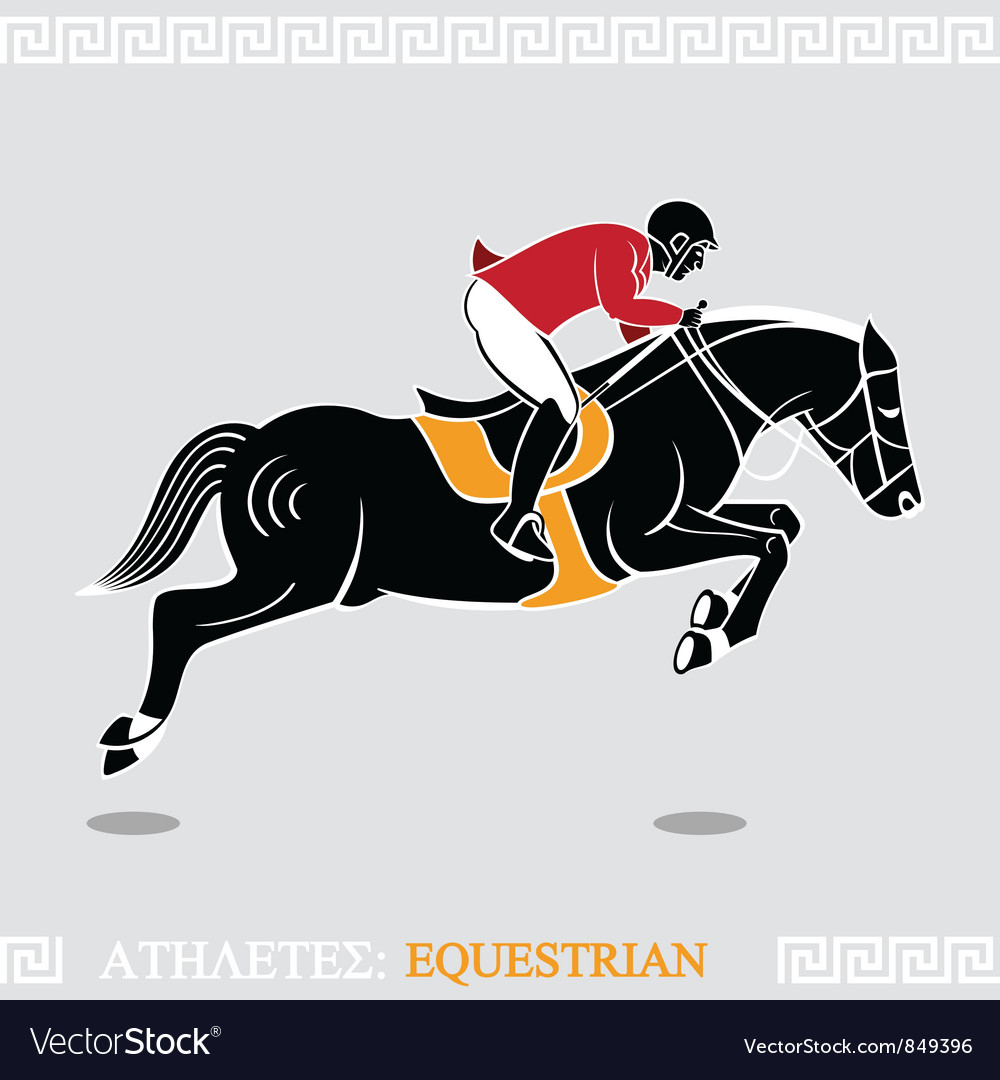 Athlete rider vector
