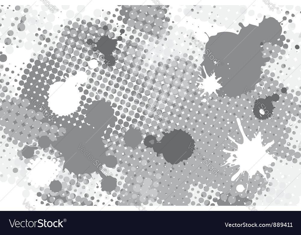 Halftone spot grunge background vector