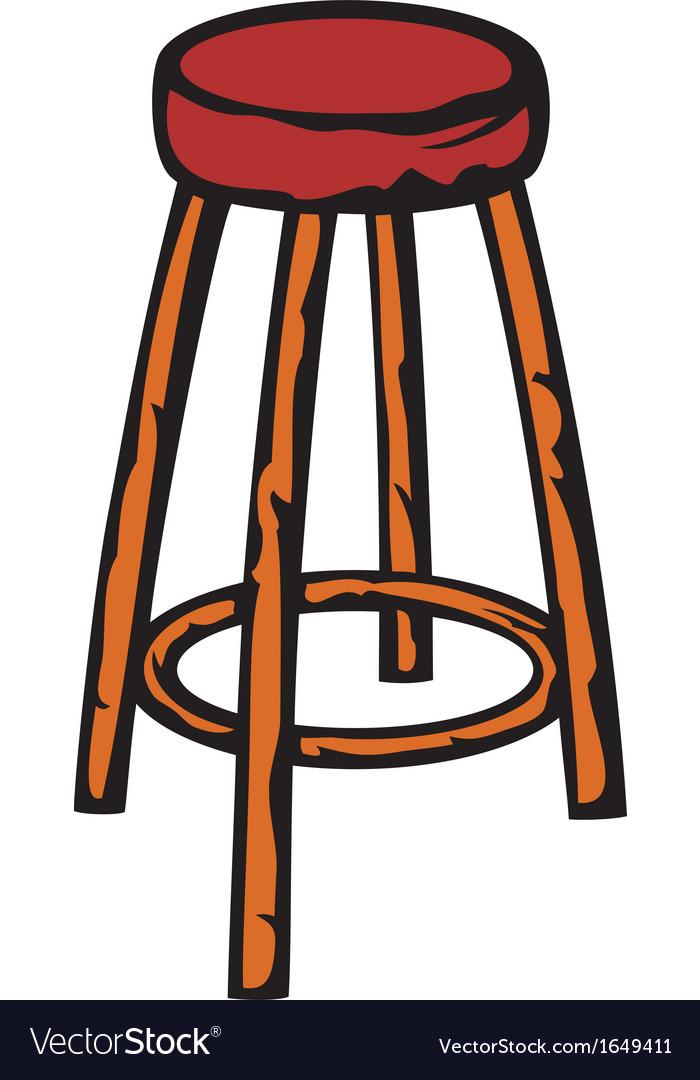 Wooden bar chair vector