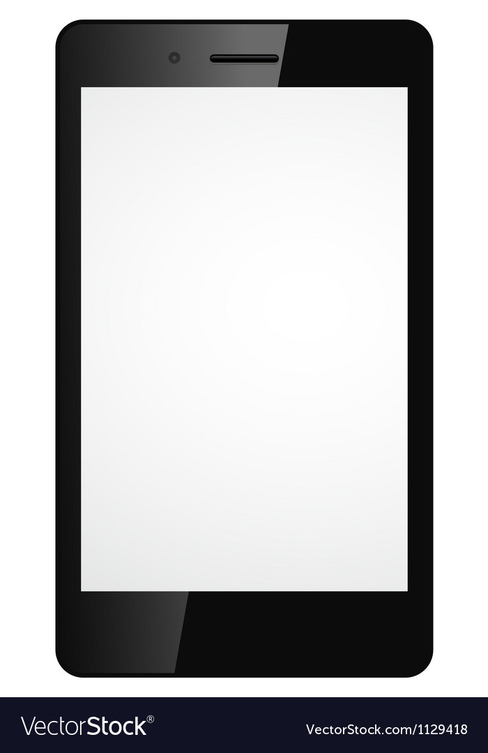 Modern mobile phone vector