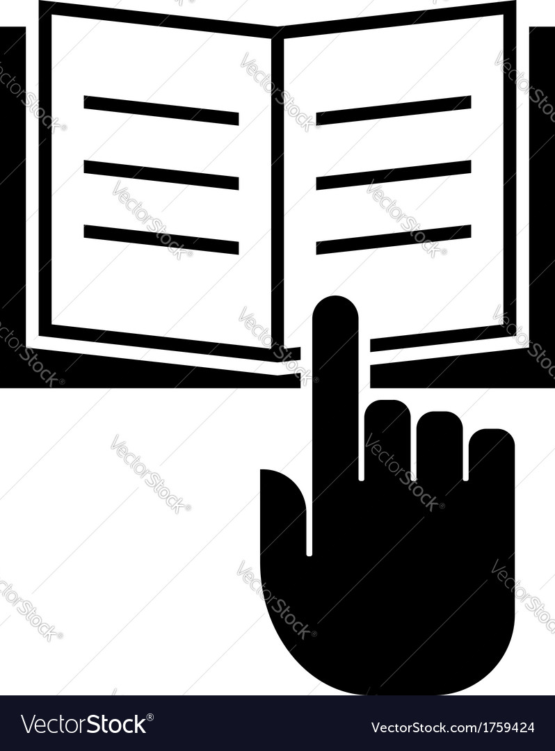 Read manual icon vector