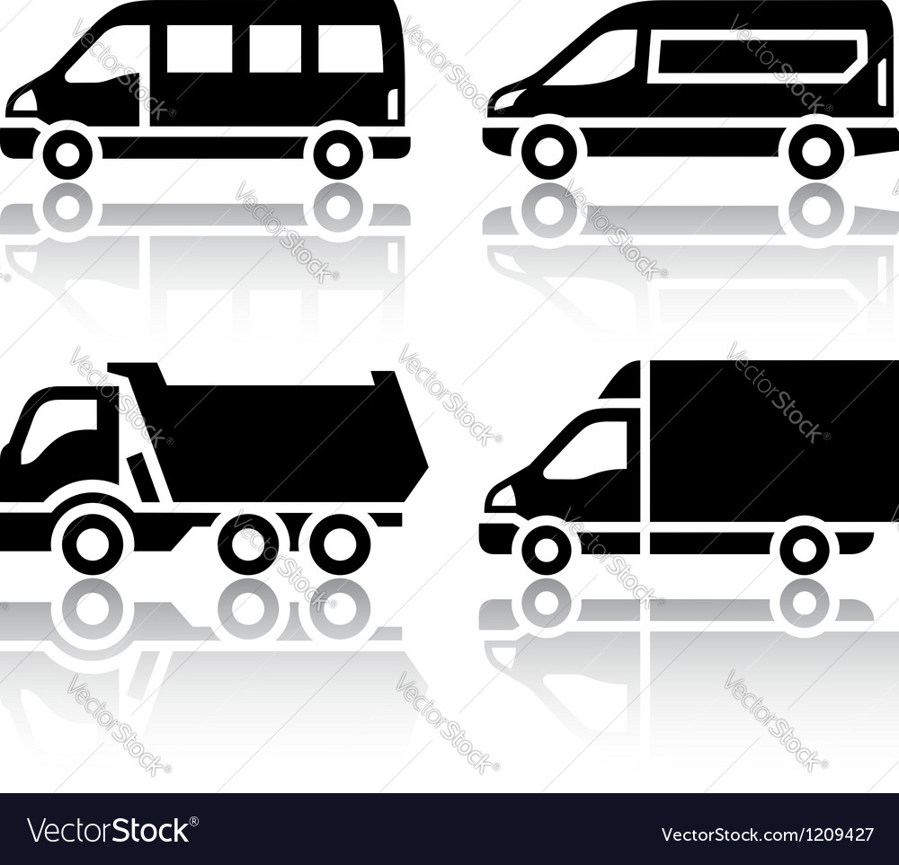 Set of transport icons - freight transport vector