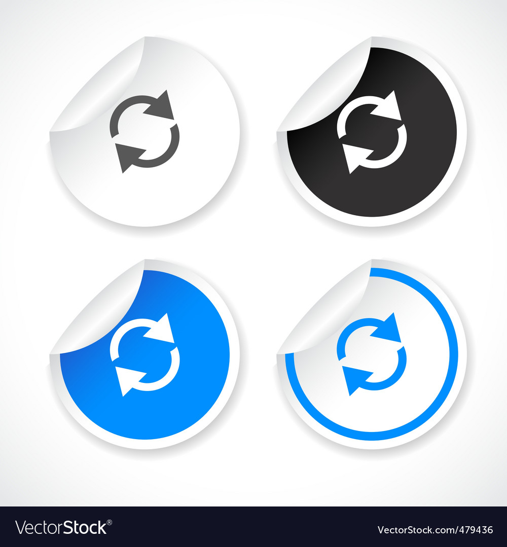 Stickers for web  vector