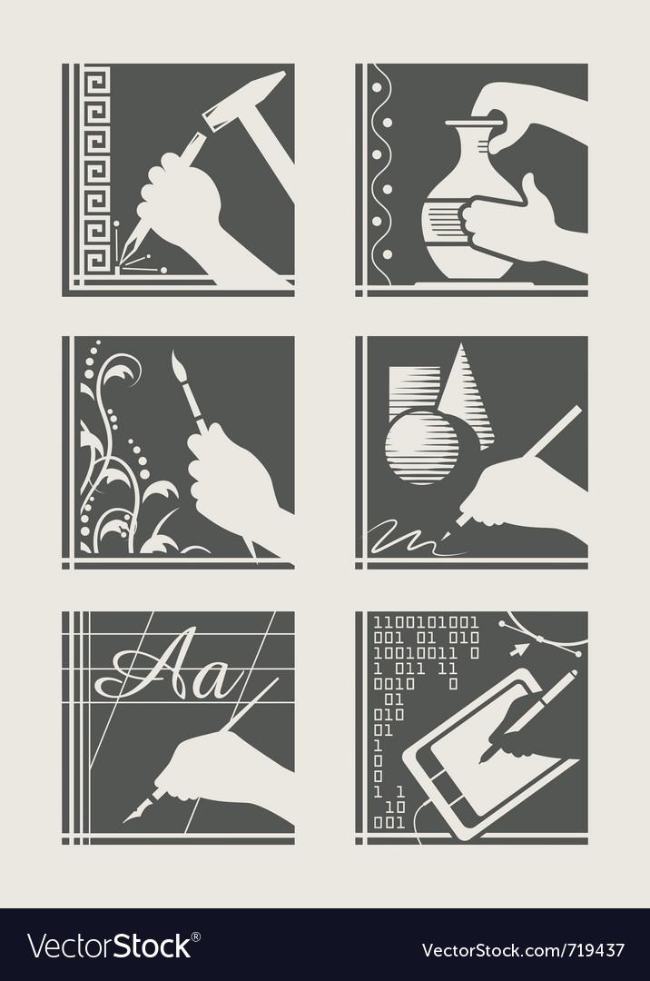 Set of art occupation vector